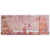 vidaXL Wandprintset boom 200x80 cm canvas geel