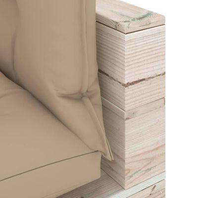 vidaXL 8-delige Loungeset met kussens pallet grenenhout