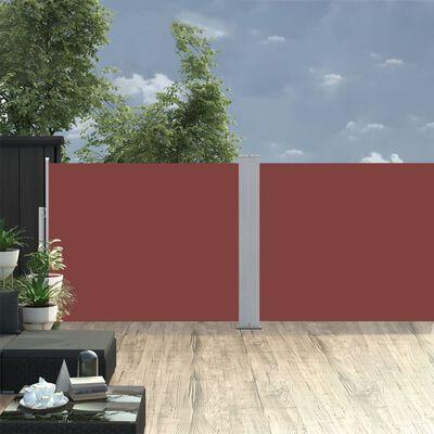 vidaXL Windscherm uittrekbaar 170x1000 cm bruin