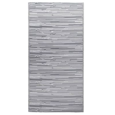 vidaXL Buitenkleed 190x290 cm PP grijs