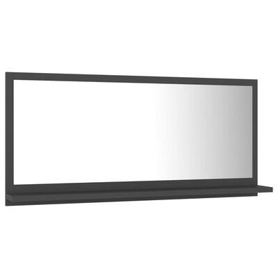 vidaXL Badkamerspiegel 80x10,5x37 cm spaanplaat grijs