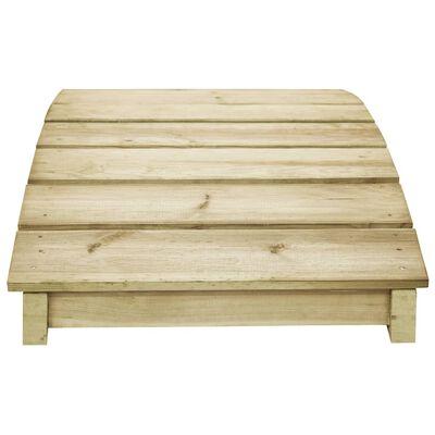 vidaXL Tuinbrug 170x74 cm geïmpregneerd grenenhout