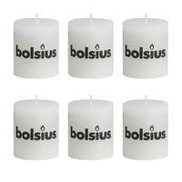 Bolsius Rustieke Stompkaarsen 80 x 68 mm 6 stuks wit