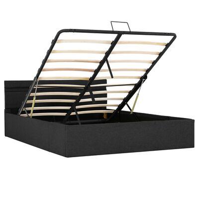 vidaXL Bedframe met opslag en LED stof donkergrijs 140x200 cm