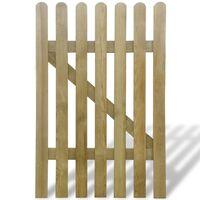 vidaXL Poort 100x150 cm hout