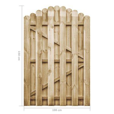 vidaXL Poort 100x150 cm geïmpregneerd grenenhout
