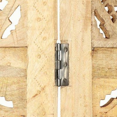 vidaXL Kamerscherm 4 panelen handgesneden 160x165 cm massief mangohout