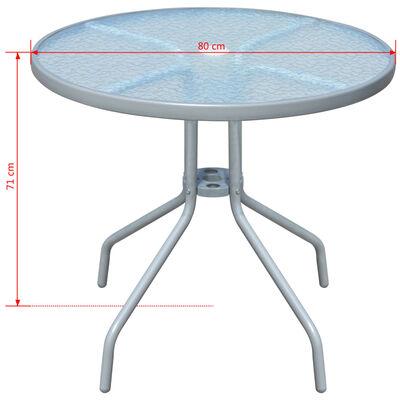 vidaXL Bistrotafel 80x71 cm staal grijs