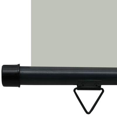 vidaXL Balkonscherm 80x250 cm grijs