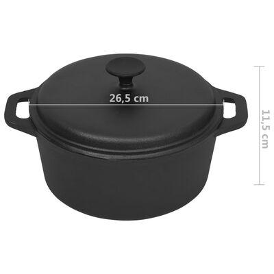 vidaXL Pan Ø26,5 cm gietijzer