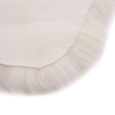 vidaXL Vloerkleed 60x90 cm schapenvacht wit