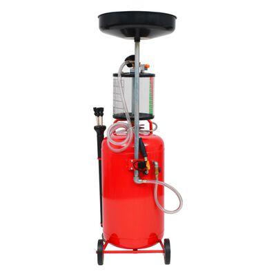 vidaXL Olie opvangtank 70 L staal rood