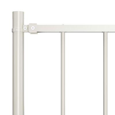 vidaXL Hekpaneel met palen 1,7x1 m gepoedercoat staal wit