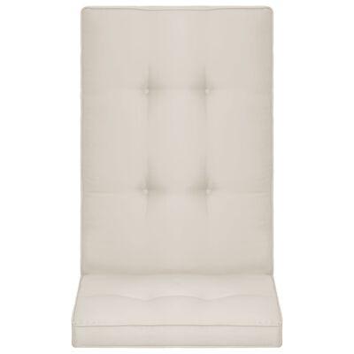 vidaXL Tuinstoelkussens 4 st 120x50x5 cm crème