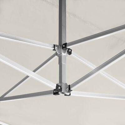 vidaXL Partytent inklapbaar met wanden 4,5x3 m aluminium crème