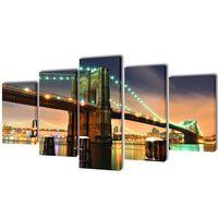 Canvasdoeken Brooklyn Bridge 200 x 100 cm