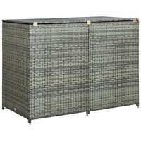 vidaXL Containerberging dubbel 148x77x111 cm poly rattan antraciet