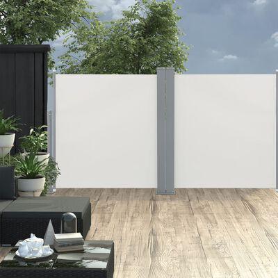 vidaXL Windscherm uittrekbaar 100x600 cm crème