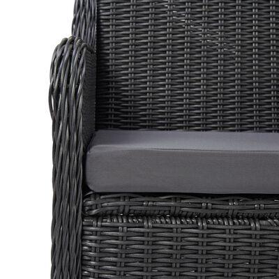vidaXL 9-delige Loungeset poly rattan zwart