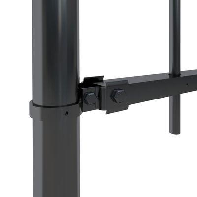 vidaXL Tuinhek met ronde bovenkant 13,6x0,6 m staal zwart
