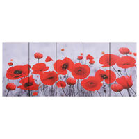vidaXL Wandprintset bloem 200x80 cm canvas meerkleurig