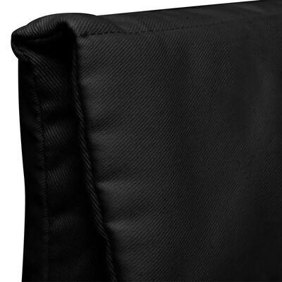 vidaXL Fauteuil met gebogen houten frame stof zwart