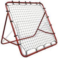 vidaXL Voetbal kickback rebounder verstelbaar 100x100 cm