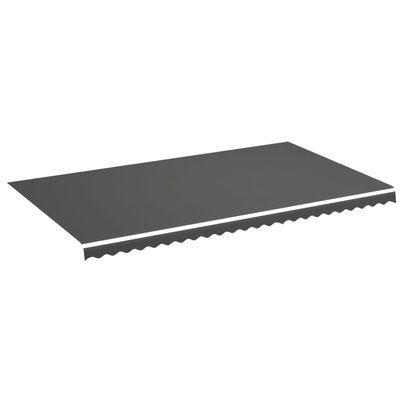 vidaXL Vervangingsdoek voor luifel 6x3,5 m antracietkleurig