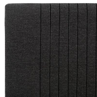 vidaXL Bedframe stof donkergrijs 160x200 cm
