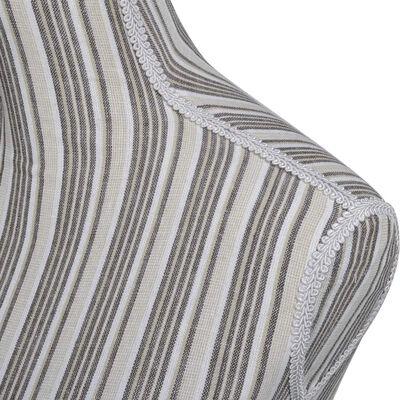 vidaXL Etalagepop torso vrouw katoen linnen met strepen