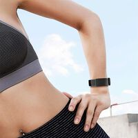 Fitbit Charge 3/4 armband siliconen - zwart / zilver - Small
