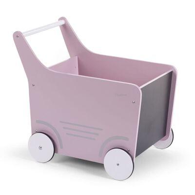 CHILDHOME Poppenwagen hout roze