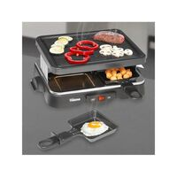 Tristar Gourmetstel 4-persoons 500 W 22x17,5 cm zwart