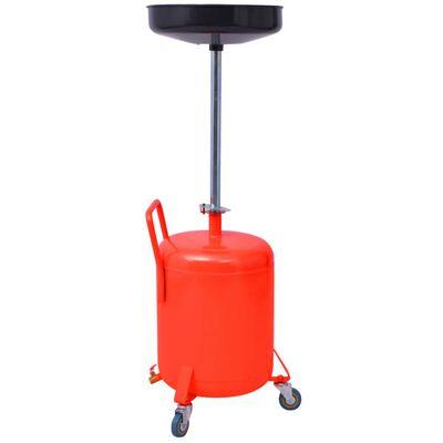 vidaXL Olie opvangtank 49,5 L staal rood