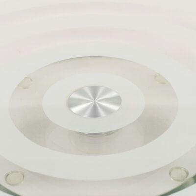 vidaXL Serveerborden draaibaar 2 st 30 cm gehard glas transparant