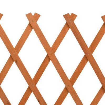 vidaXL Tuinlatwerk 150x80 cm massief vurenhout oranje