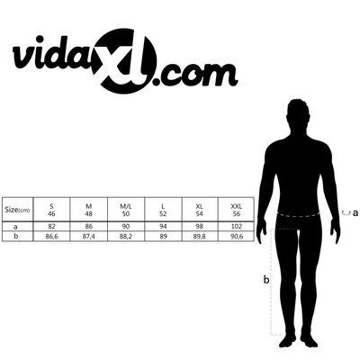 vidaXL Pantalon zwart mannen maat 50