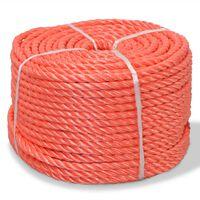 vidaXL Touw gedraaid 12 mm 250 m polypropyleen oranje