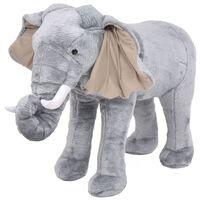 vidaXL Speelgoedolifant staand XXL pluche grijs