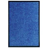 vidaXL Deurmat wasbaar 40x60 cm blauw