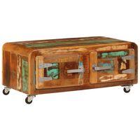 vidaXL Salontafel 85x55x40 cm massief gerecycled hout