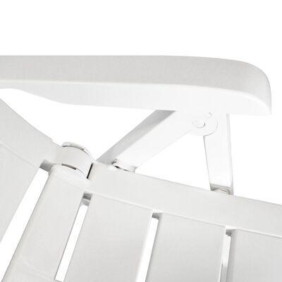 vidaXL Tuinstoelen 4 st verstelbaar kunststof wit