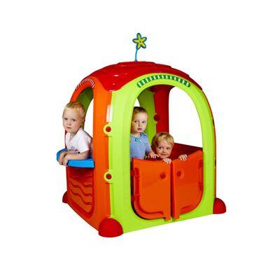 Paradiso Toys speelhuis Cocoon 94 x 125 cm groen/oranje/rood