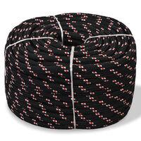 vidaXL Boot touw 10 mm 250 m polypropyleen zwart
