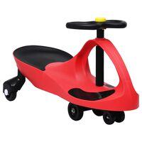 vidaXL Loopauto wiebelend met toeter rood