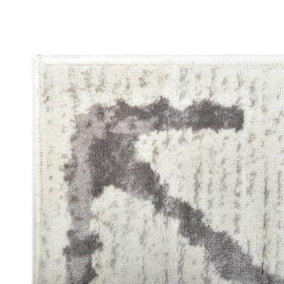 vidaXL Vloerkleed 140x200 cm PP crème en grijs
