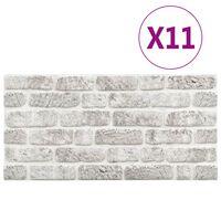 vidaXL 11 st Wandpanelen 3D lichtgrijze baksteen EPS